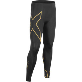2XU MCS Run Compression Tights with Back Stor Herre black/gold reflective